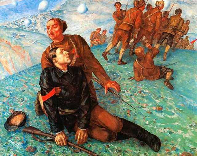 1918 год в Петрограде (Петроградская Мадонна), Петров-Водкин - описание