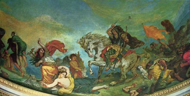 Тигр и лев, Эжен Делакруа, 1856