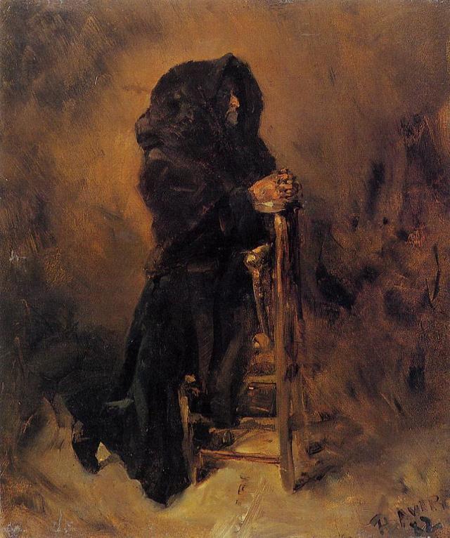 «Прокопий Праведный за неведомых плавающих молится», Николай Рерих — описание картины