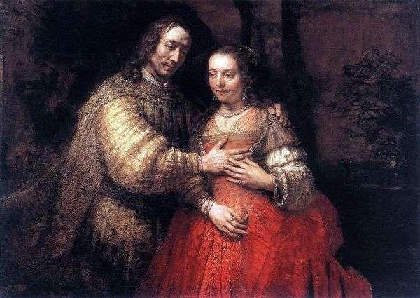 Картина «Еврейская невеста», Рембрандт — описание