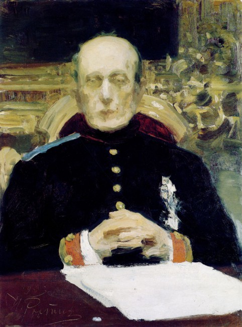 Портрет К. П. Победоносцева, Репин, 1903