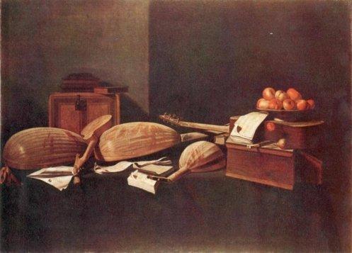 Натюрморт с музыкальными инструментами, Питер Клас, 1623