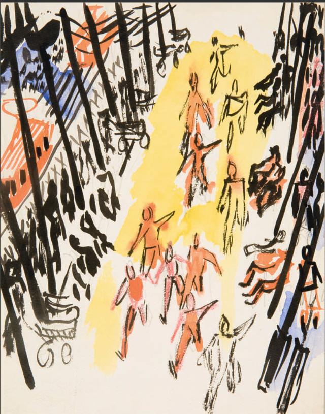 «Эстафета по кольцу Б», Александр Дейнека — описание картины