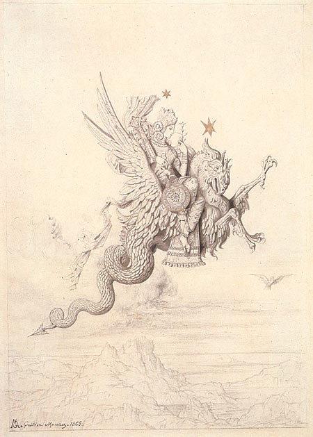Эдип и Сфинкс, Гюстав Моро, 1864