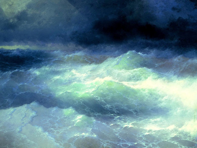 «Волны», Гюстав Курбе — описание картины