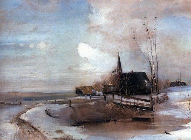 Грачи прилетели, Алексей Кондратьевич Саврасов, 1871