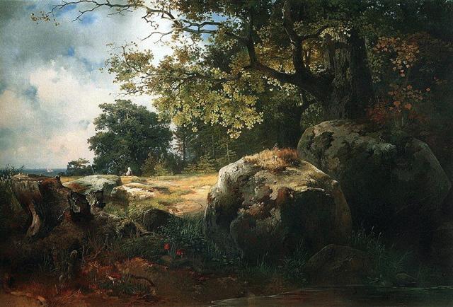 Вид в окрестностях Ораниенбаума, Саврасов, 1854