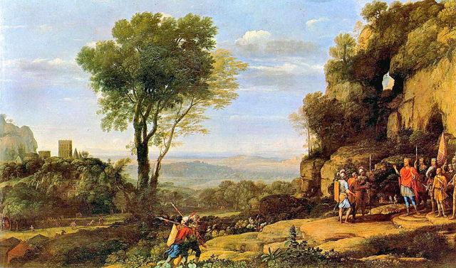 Отплытие царицы Савской, Клод Лоррен, 1648