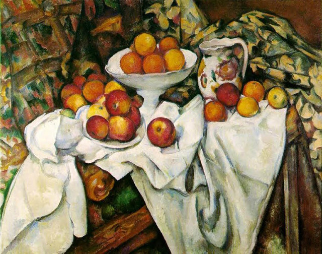 Яблоки и листья, Репин - описание картины