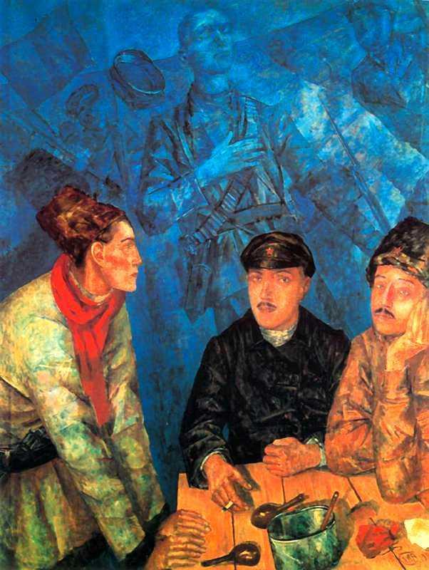 Смерть комиссара, Кузьма Сергеевич Петров-Водкин, 1928
