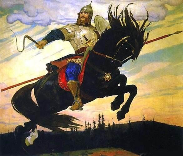 Богатырский галоп, Васнецов - описание картины