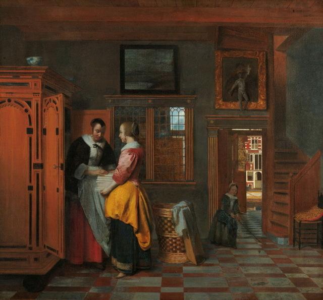 Хозяйка и служанка, Питер де Хох