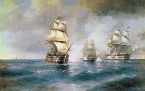 Бриг «Меркурий», атакованный двумя турецкими кораблями, Айвазовский