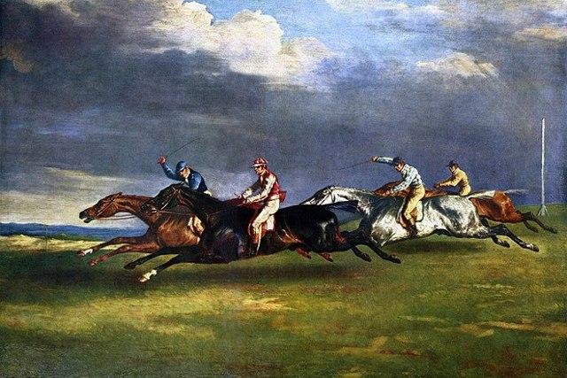 «Бег свободных лошадей в Риме», Теодор Жерико — описание картины