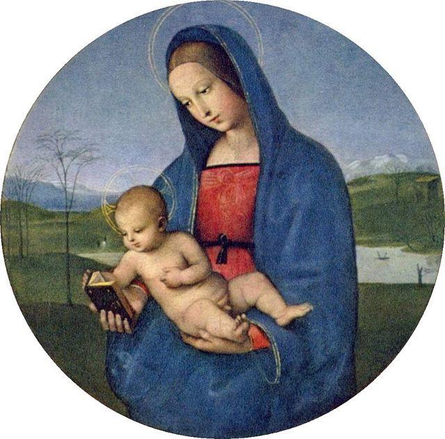 Мадонна Конестабиле, Рафаэль Санти - описание картины