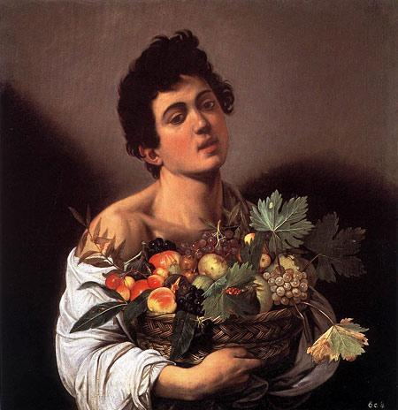 Юноша с корзиной фруктов, Микеланджело Караваджо
