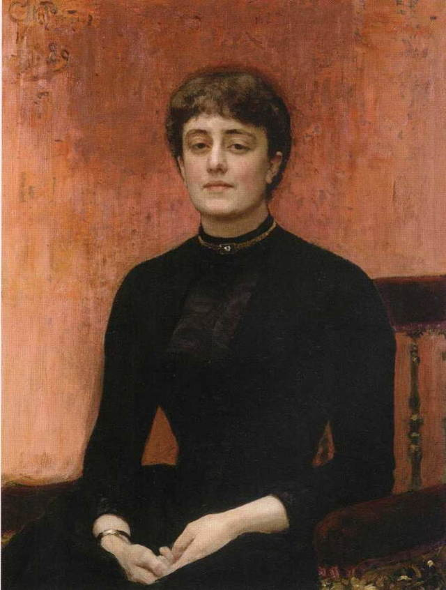 Актриса Пелагея Стрепетова, Репин, 1882
