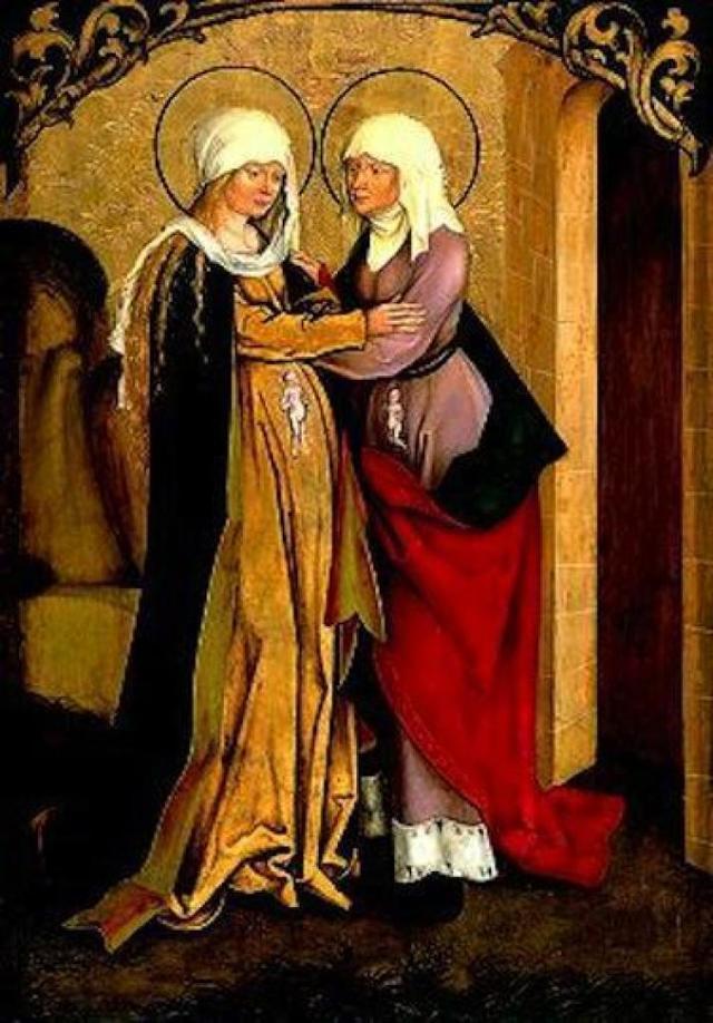 «Встреча Марии и Елизаветы (Посещение Марии)», Себастьяно дель Пьомбо — описание картины