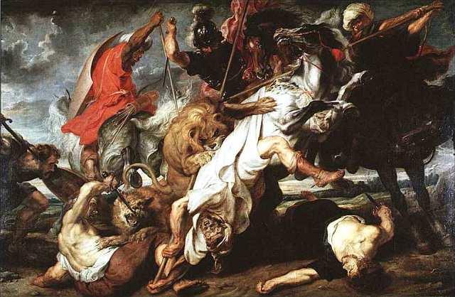 Охота на львов, Питер Пауль Рубенс, 1621