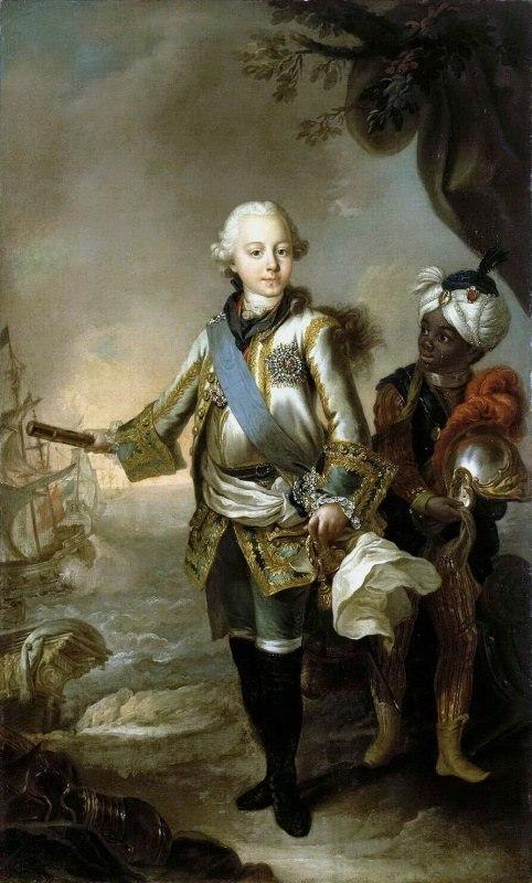 Портрет великого князя Павла Петровича, Стефано Торелли, 1765