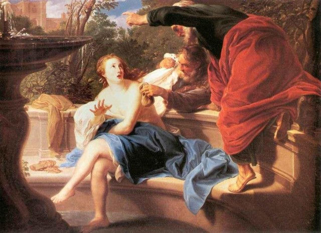 «Сусанна и старцы», Тинторетто — описание картины