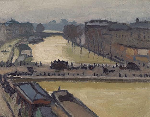 Порт в Онфлере, Альбер Марке, 1911