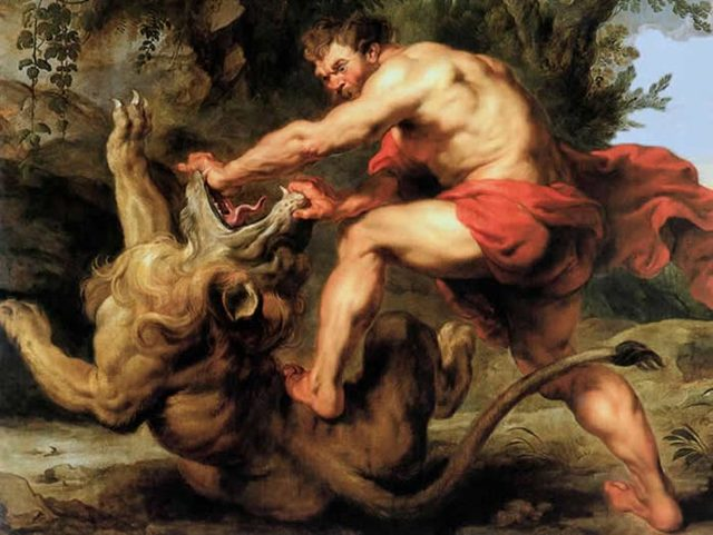 «Ослепление Самсона», Рембрандт — описание картины