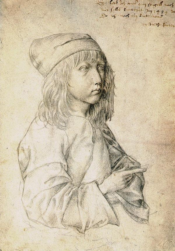 Ранний автопортрет, Альбрехт Дюрер, 1493