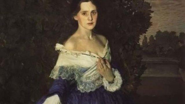 Дама в голубом, Константин Андреевич Сомов