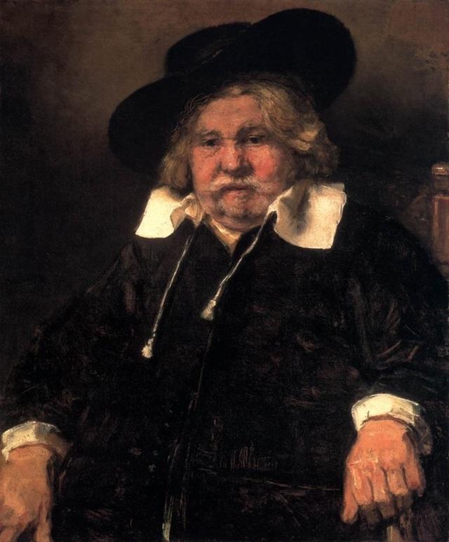 Портрет старика в красном, Рембрандт, 1654