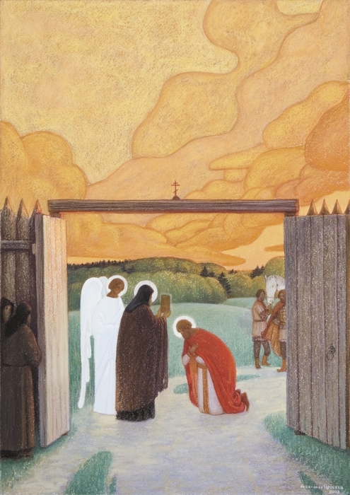 Картина «Святой Сергий Радонежский», Николай Рерих — описание