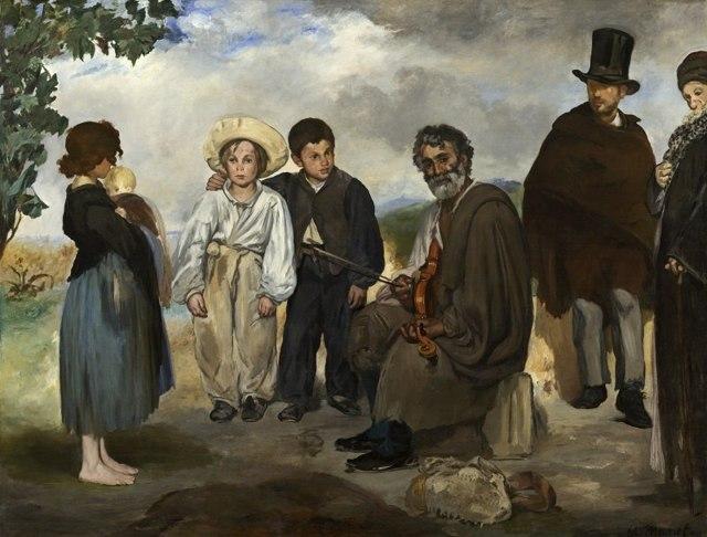 Старый музыкант, Эдуард Мане - описание картины