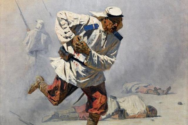 «В турецкой покойницкой», Верещагин — описание картины