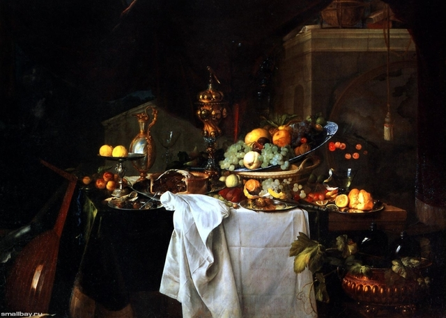 Десерт, Ян Давидс де Хем, 1640