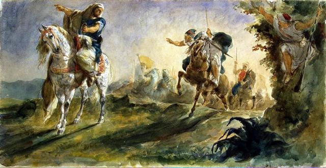 Портрет Жорж Санд, Эжен Делакруа, 1838