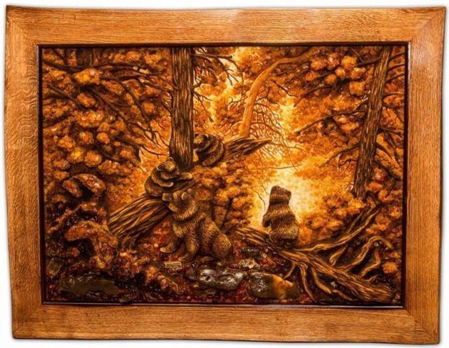 Описание картины «Утро в сосновом лесу», Шишкин, 1889
