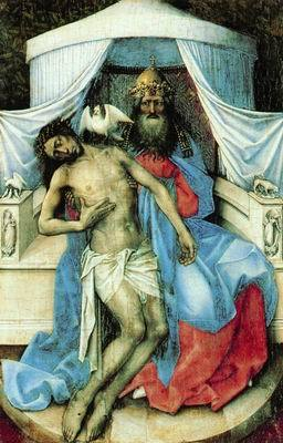 Картина Благовещение (Алтарь Мероде), Робер Кампен