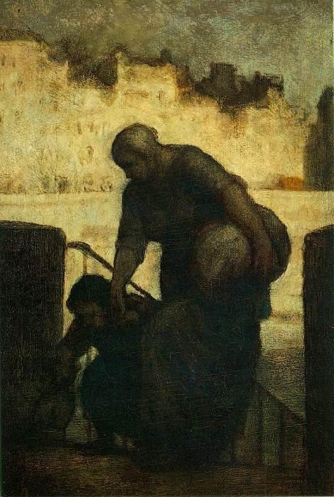 Ноша (Прачка) - Оноре Домье