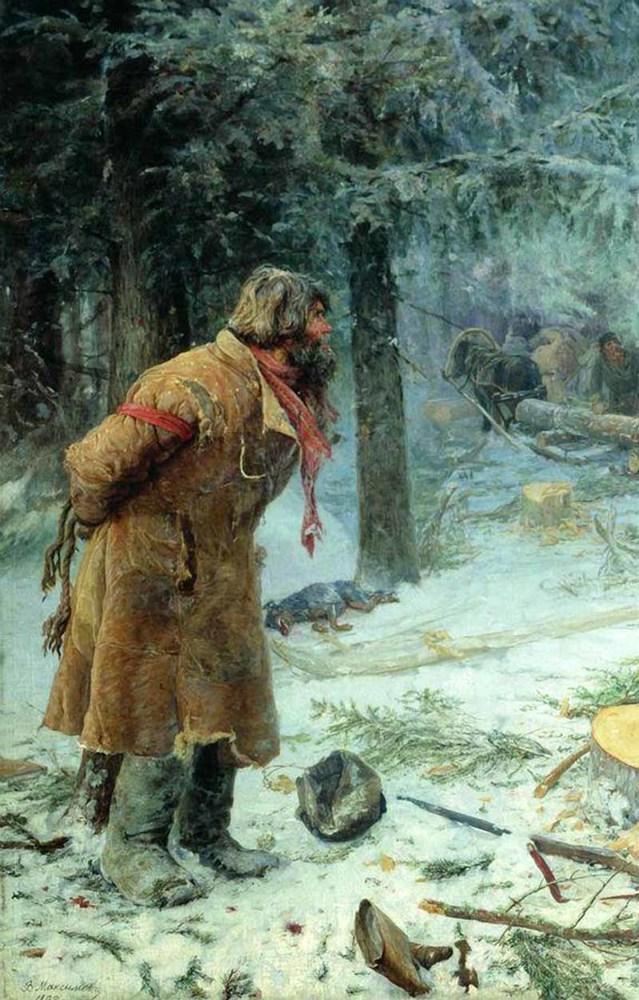 Картина «Бабушкины сказки», Максимов — описание картины