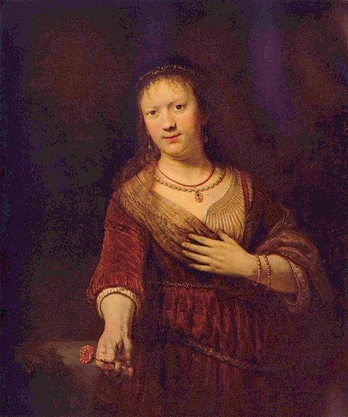 Автопортрет с женой Саскией, Рембрандт, 1635