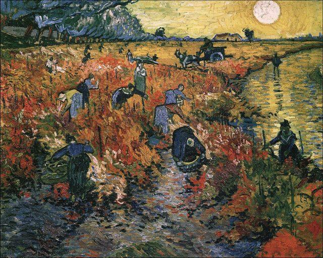 Кипарисы, 1889, Ван Гог