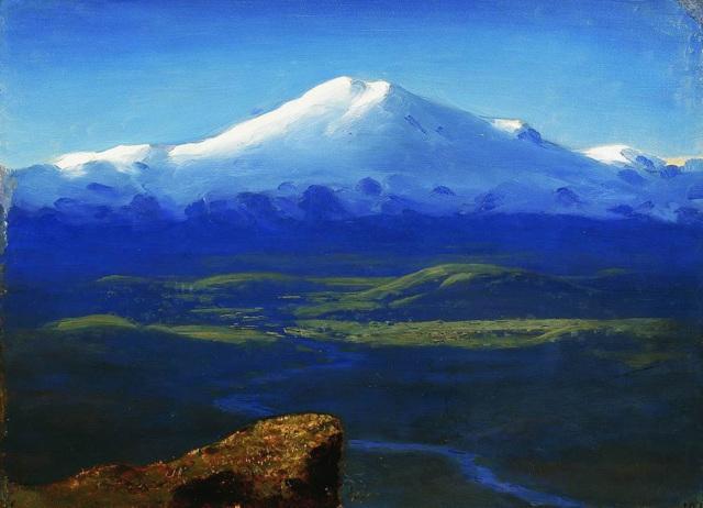 «Снежные вершины», Архип Иванович Куинджи — описание картины