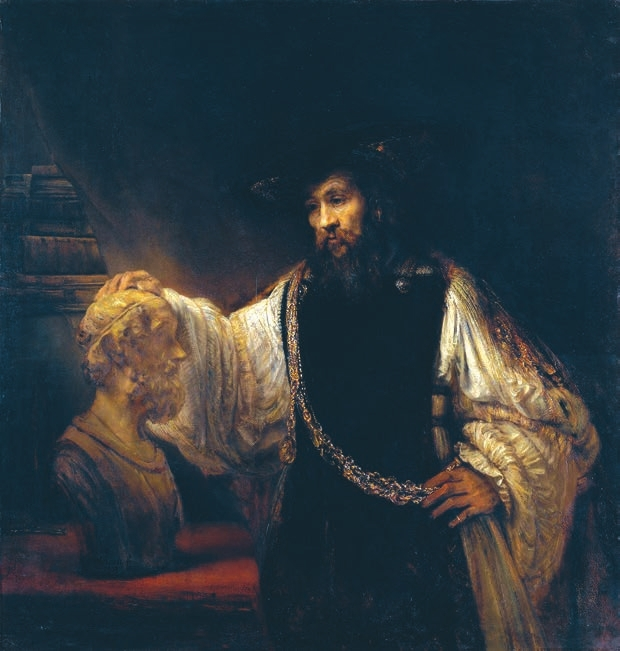 Аристотель перед бюстом Гомера, Рембрандт, 1653