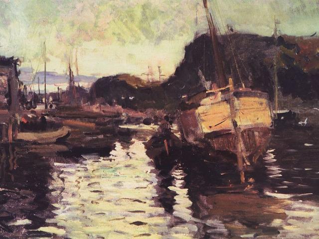 «Морской берег в Дьеппе», Константин Коровин — описание картины