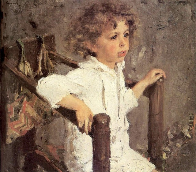 Портрет Мики Морозова, Серов, 1901