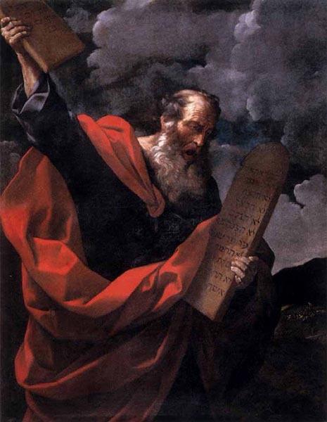 Моисей со скрижалями Закона, Гвидо Рени