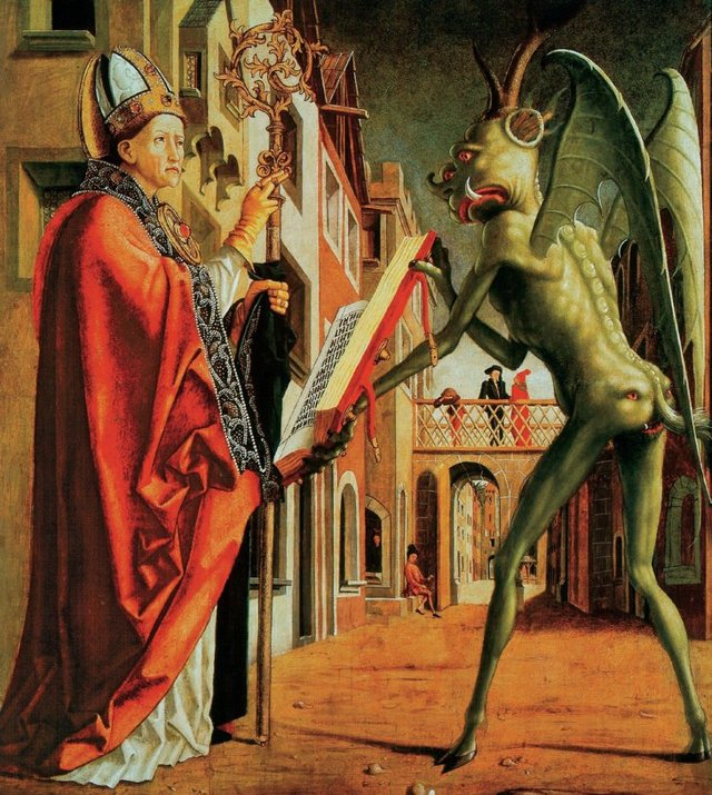 «Мучения святого Антония», Микеланджело Буонарроти — описание картины