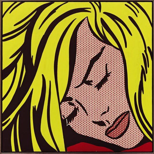 Спящая девушка, Рой Лихтенштейн - описание картины