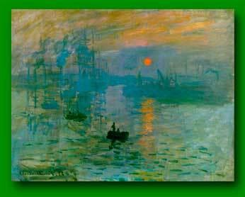 Восход солнца. Впечатление, Клод Моне - описание картины