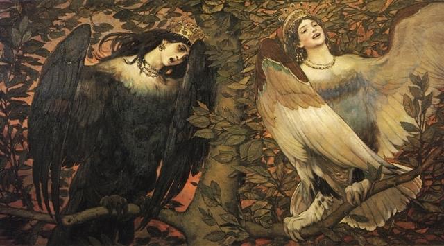 Гамаюн, птица вещая, Васнецов - описание картины